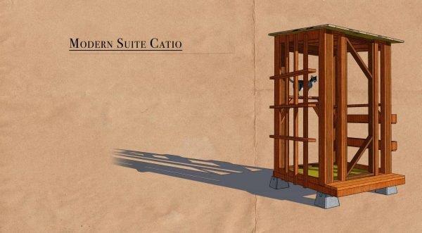 modern suite catio cat enclosure