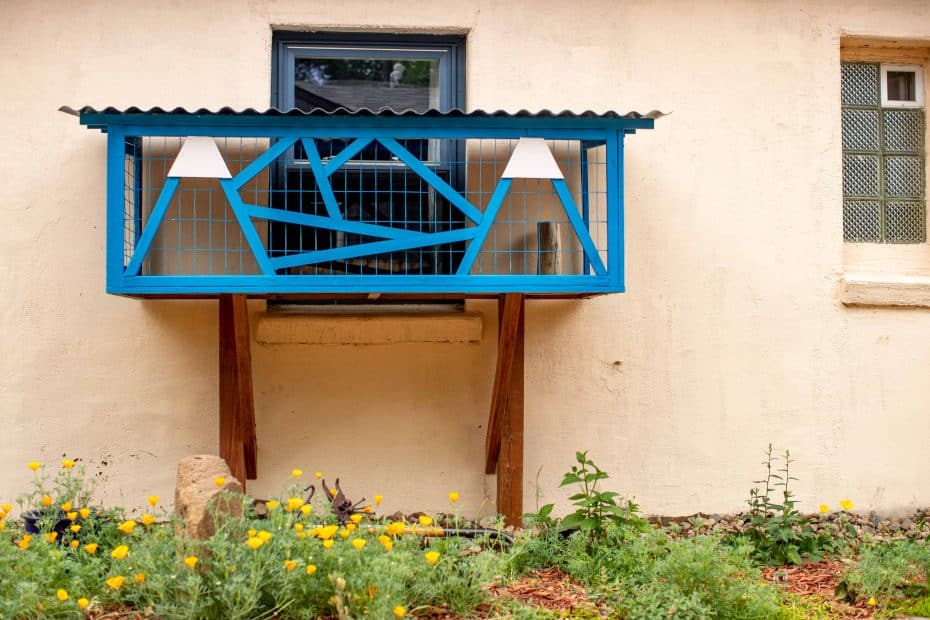 mountain catio cat window box