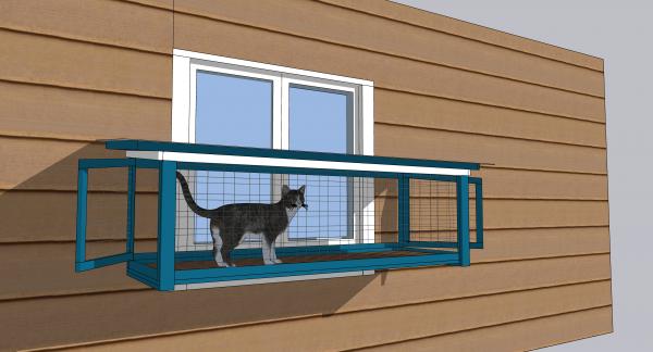 cat window box design