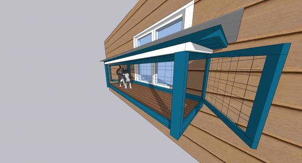 window catio design on home