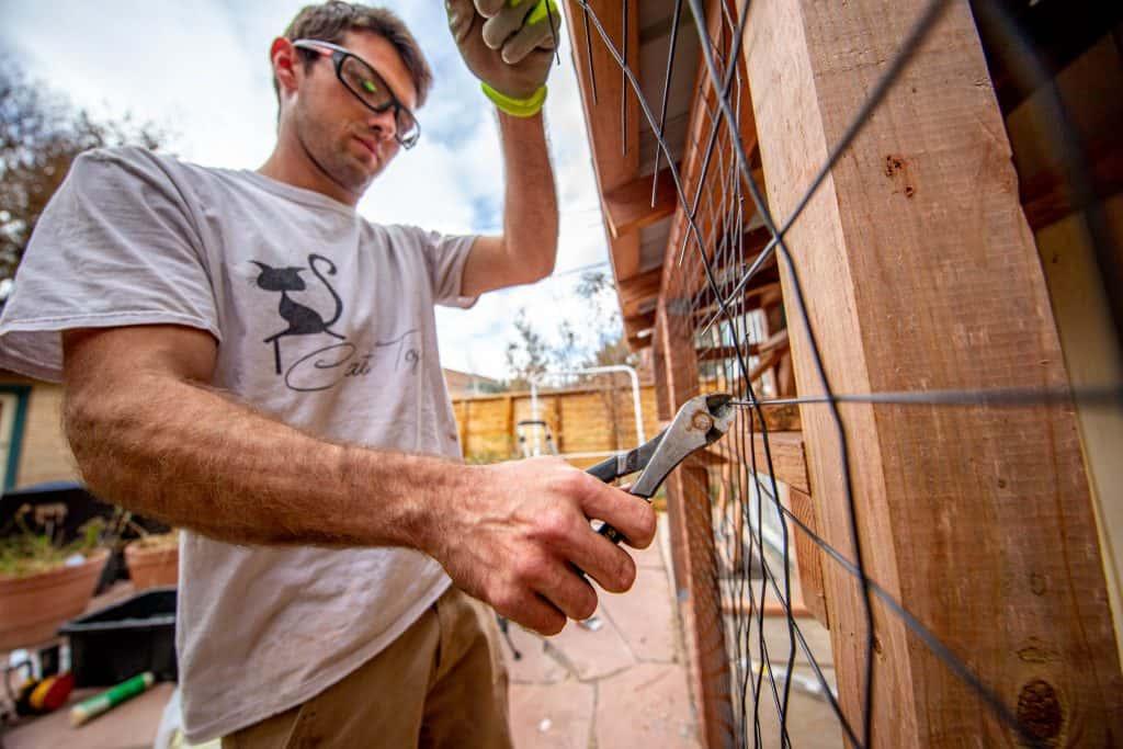 catio builder for outdoor cat enclosure