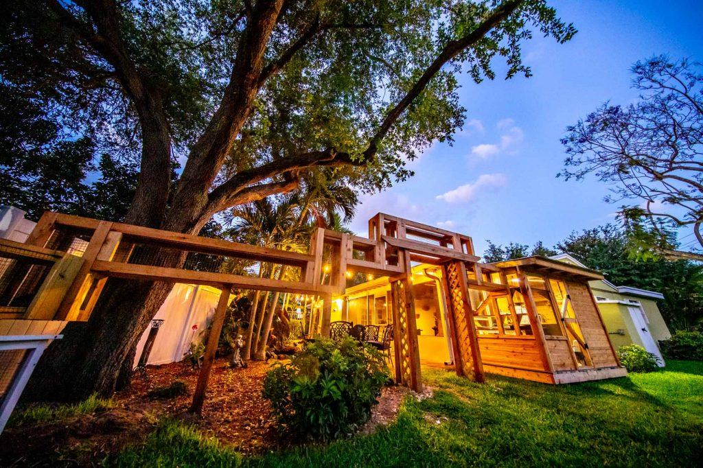 custom outdoor cat house