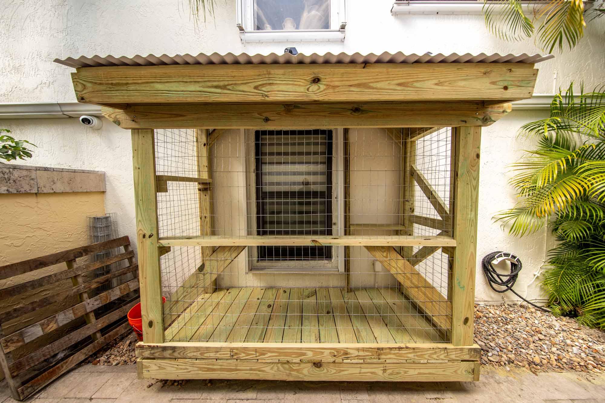 custom outdoor catio build miami florida pressure treated