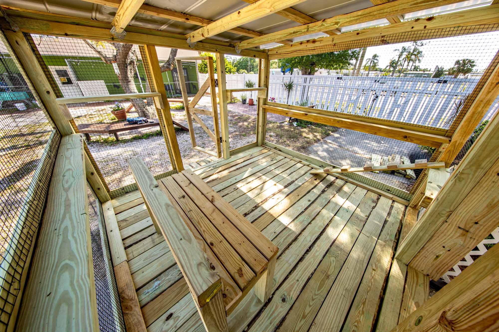 Humane Society of Manatee County Catio Build Interior