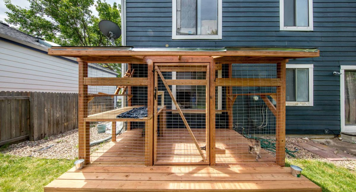 boulder catio with custom deck